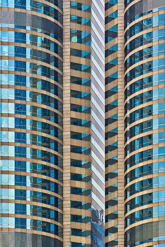 Another abstract view of Hong Kong One Exchange Square.
