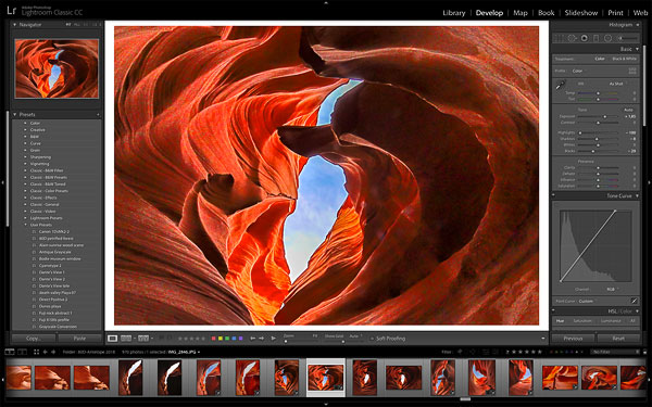The Lightroom Interface in the Develop Module